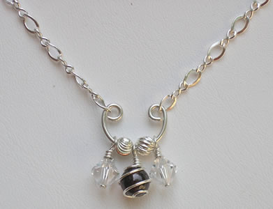 sterling silver birthstone necklace